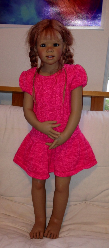 Arinda in her new Target dress
