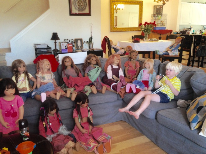 Himstedt packing in progress. Can you spot the real child?