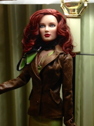 Redhead Carmen in jacket and scarf by YumYum